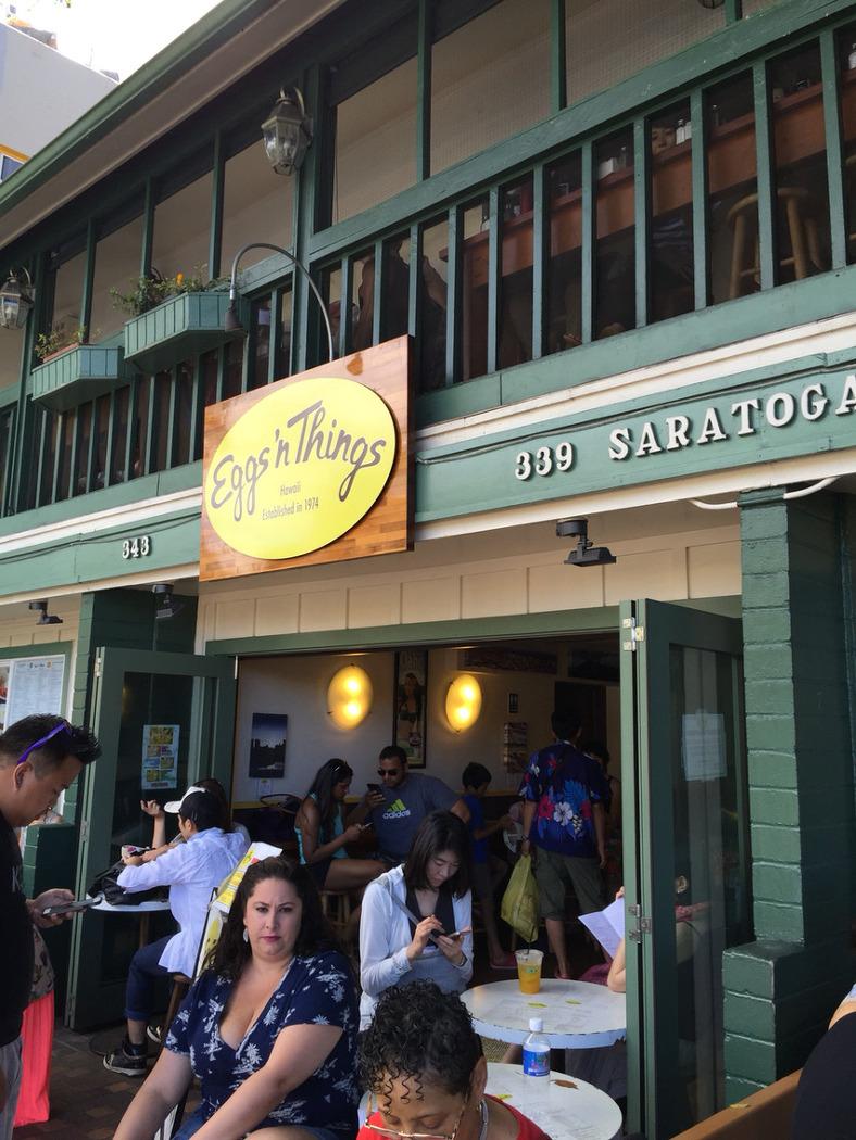 [하와이] 필수로 찾는다는 팬케이크 전문점 에그앤띵스 - eggs n things in..