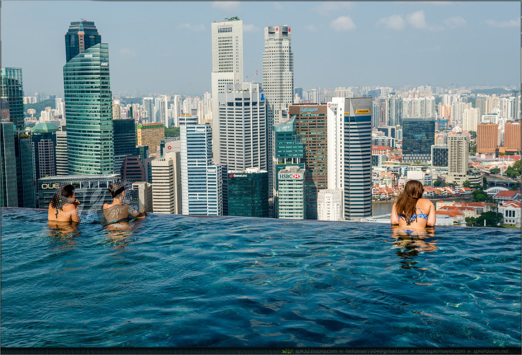 싱가포르 - 마리나 베이 샌즈 인피니트 풀