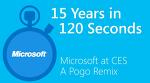 15년의 CES 기조연설을 120초로 담은 동영상(REMIX)