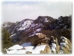 눈덮인 관악산