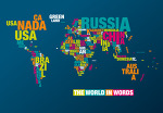 타이포그래피인 세계지도