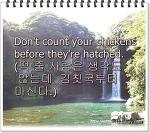 영어속담과 삶의이야기32-Don't count your chickens before they're hatched.(떡 줄 사람은 생각도 않는데 김칫국부터 마신다.)