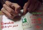 세탁가능 손그림 라벨 만들기, 제작과정