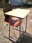 [품절] 중고 학원 책상 - 일반형 + 하이팩 의자