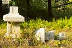 안산 해오라기공원의 허물어된 석탑