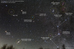 Comet Lovejoy, M31, Double cluster, Cassiopeia 러브조이 혜성, 안드로메다 은하, 이중 성단, 카시오페이아자리