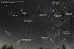 Comet Lovejoy, M31, Double cluster, Cassiopeia 러브조이 혜성, 안드로메다 은하, 이중 성단, 카시오페이아자리