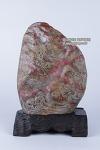 P-364. 창화 계혈석 작품  -계혈석, 여기저기알튐, 좌대포함(갈라짐있음)- (높이 31.5cm [좌대제외 28.5cm], 무게 7.33kg)