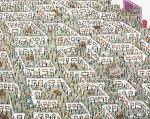 아트페어작품실종도Korean color on hemp130X162cm2011