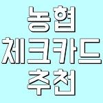 농협 체크카드 추천 알아보기