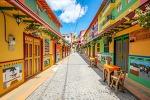 아름다운 색채와 자연. 콜롬비아 구아따뻬
