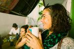 인도 마이소르(마이솔) 아쉬탕가 요가 수련자들을 위한 카페 겸 레스토랑 산토샤