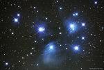 플레이아데스 성단 (Pleiades Cluster, M45)