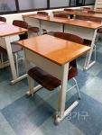 학원용 중고 책상 - 고급형 1인용 <베이지색 일자형>
