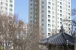 안산 해오라기근린공원에서 바라본 안산아이파크 아파트