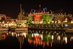 Fairmont Empress 호텔 야경 - 캐나다 빅토리아 렌트카 여행