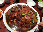 Hot Spicy chicken stew with cellophane noodles, Bongchu chimdak.