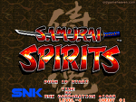 마메 게임 - 사무라이 쇼다운1 (Samurai Shodown) / 사무라이 스피리츠 (Samurai Spirits)