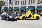 람보르기니 Aventador VS 쉐보레 Cobalt 사고현장 (in Vancouver)