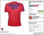 [ROGUE FITNESS] Rogue American Made Shirt-Red, Rogue Women's American Made Shirt - Red, Rogue Dri-Release Long Sleeve Shirt