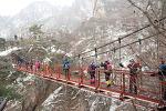 대한민국 8경 대둔산, 사계절중 설경의 풍경이 최고로 환상적인 대둔산 겨울산행