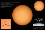 Solar Transit of ISS and Space Shuttle Endeavour