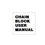 CHAIN BLOCK USER MANUAL