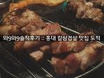 [와9와9 솔직후기] 홍대 칼삼겹살 맛집 도적