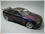 Aoshima Skyline BNR34 Top-Secret (Midnight purple III ver.)