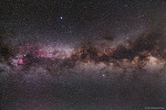 여름철 대삼각형과 은하수 (Summer Triangle and Milky Way)