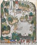 고립무원(孤立無援), 127x103, 마(麻)에 수간채색, 2016
