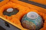 AI191. 도자기 개완 (실금이 한군데 보여짐) -여기저기 알튐 및 가마유가 보여짐- (212g)