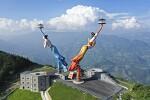 중국 충칭의 움직이는 전망대 비천지문(飞天之吻)