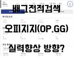 배그닥지지 전적검색 꿀팁 OP.GG와의 차이점은?