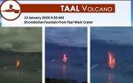 필리핀 마닐라 근교 바탕가스 화산 폭발, 항공기 운항 정지, 더 큰 폭발 우려