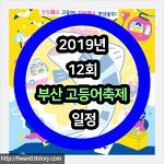 2019년 12회 부산 고등어축제 일정