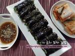 간단하고 맛있는 겨울별미, 시금치꼬마김밥~