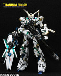 Unicorn Gundam MG GREEN Titanium Finish