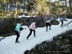 후다닥 지나가는 달, 2월에 아이들과 한 주말 산책