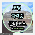 부산시민공원에서 열리는 코딩 자격증 준비코스