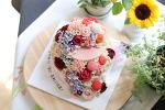 꽃담은시루 환갑, 칠순, 팔순 잔치, 2단 주문케이크 상차림 떡케익 떡케이크주문 떡케잌 배달