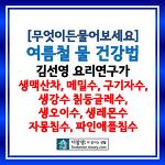 [무엇이든물어보세요] 여름철물건강법: 김선영 요리연구가의 건강수 생맥산차, 메실수, 구기자수, 생강수, 칡둥글레수, 생이오수, 생레몬수, 자몽칩수, 파인애플수 레시피