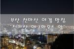 """[부산/초장동/천마산 야경] 부산 사람들만 아는 야경 맛집 """"천마산 에코하우스 앞"""""""