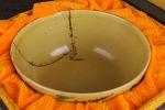 AH314. 도자기 완 (파손 수리) -여기저기 알튐및 가마유가 보여짐- (202g)