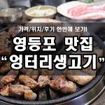 영등포 무한리필 고기집, 엉터리생고기! 고기 퀄리티 좋아요~