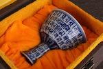 AH39. 도자기 배 -여기저기 알튐 및 가마유가 보여짐- (114g)