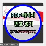 PDF 파일에 페이지 번호 넣기(feat. Acrobat pro 9)