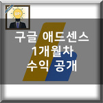구글 애드센스로 돈벌기 - 1개월차 수익 공개