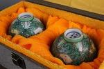 AH256. 도자기 배 (빙열,산화, 한점은 파손수리) -여기저기 알튐및 가마유가 보여짐- (58g, 51g)