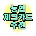 농협 체크카드 추천 TOP3 정보